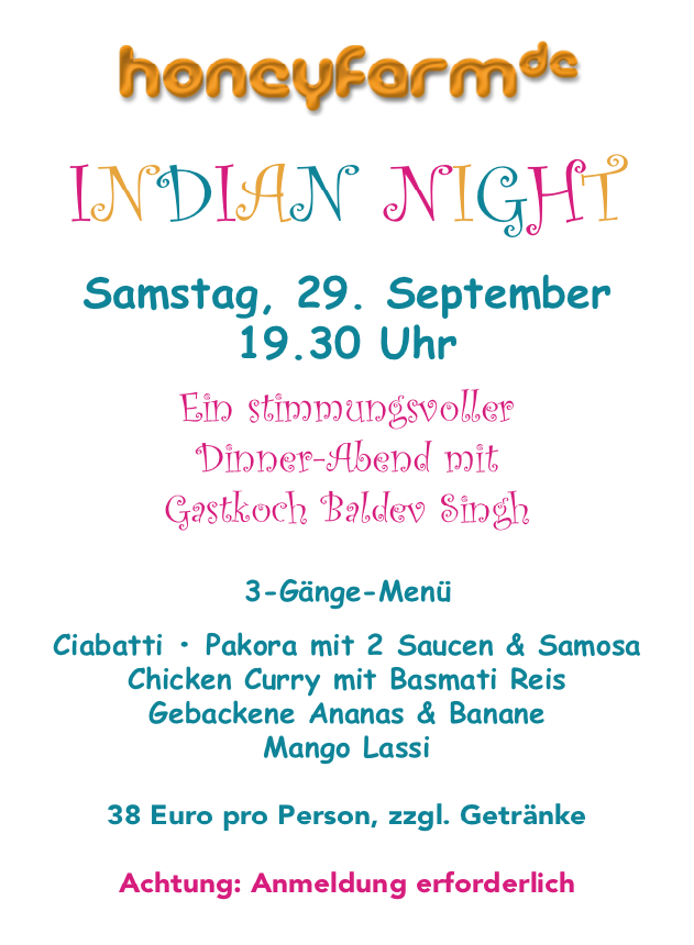 Indian Night bei Honeyfarm Living Kitchen